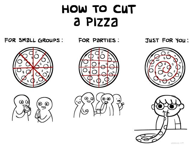 How to cut pizza
